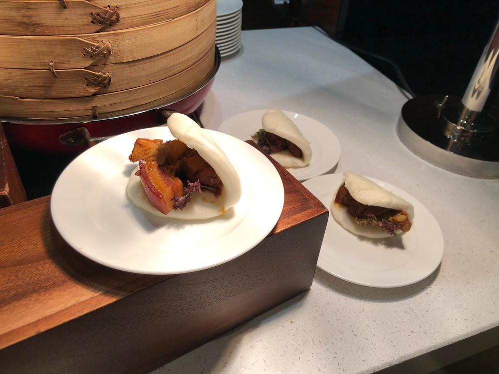 Executive Lounge - Braised pork belly in a bun