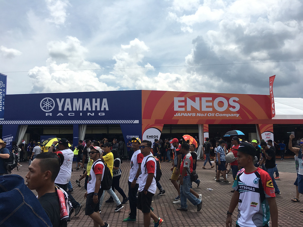 Various Motorcycle-related merchandise for sale at Sepang Circuit