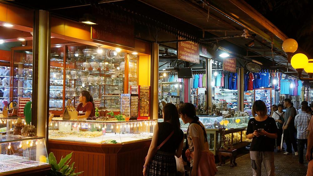 Vendors selling their wares at Angkor Night Market