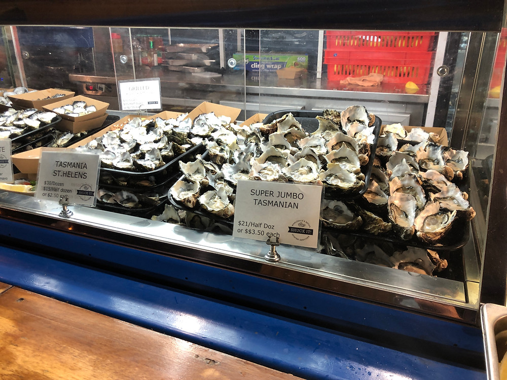 Fresh oysters - a must-try at such markets