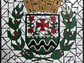 """Escudo de Florida en Mosaico 18"""" x 18"""""""