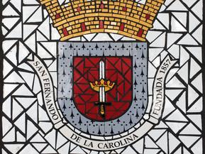 """Escudo de Carolina en Mosaico 18"""" x 18"""""""