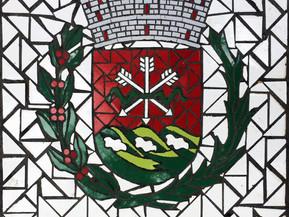 """Escudo de San Sebastian en Mosaico18"""" x 18"""""""