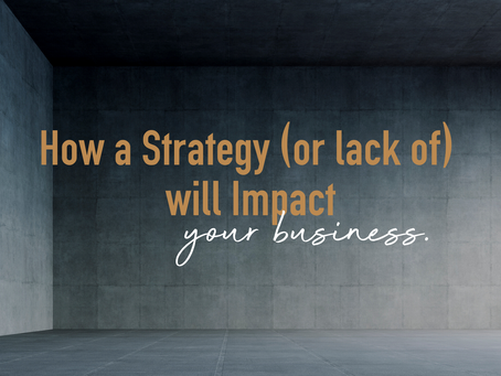 How a Strategy (or lack of) will impact your business