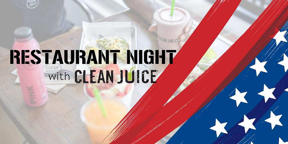Restaurant Nights: Clean Juice