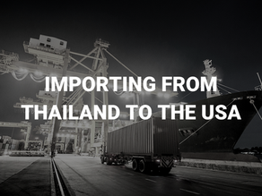 Importing from Thailand to the USA