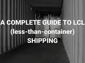 A Complete Guide to LCL (less-than-container) Shipping