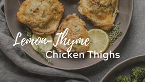 Lemon-Thyme Chicken Thighs (Grain-Free, Paleo)