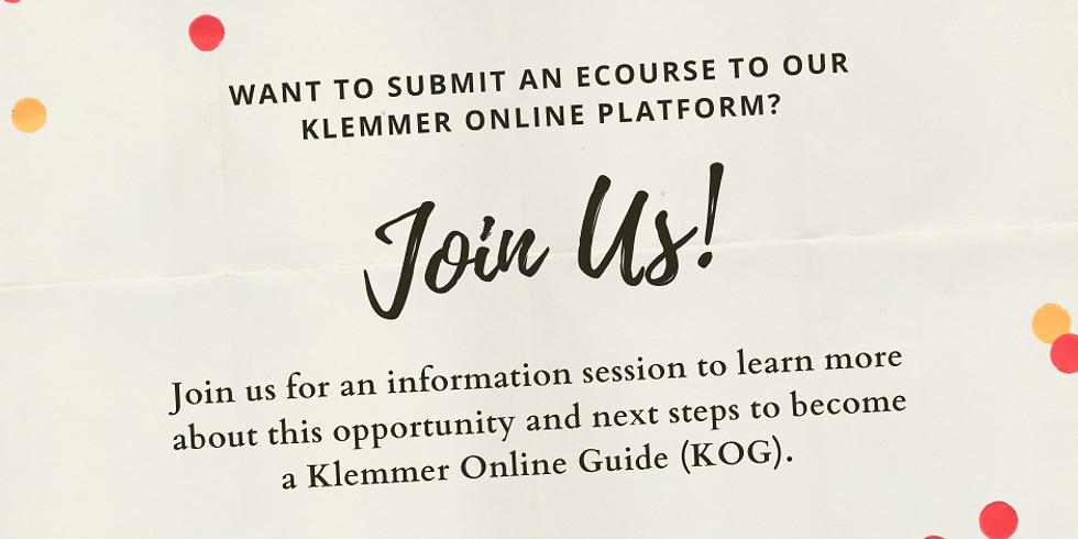 Klemmer Online Guide: Information Session