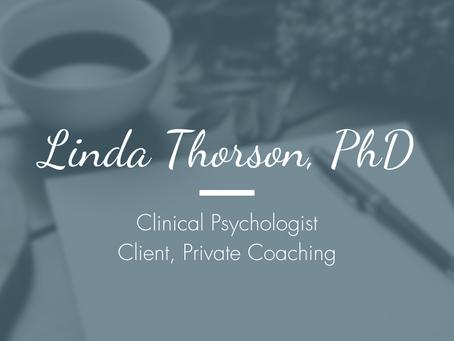Linda Thorson, PhD, Clinical Psychologist - Client, Caregiver Coaching