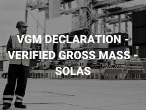 VGM Declaration – Verified Gross Mass – SOLAS