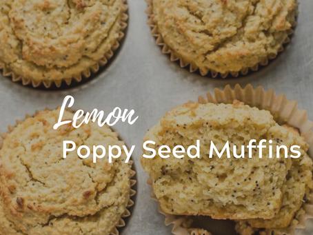 Lemon Poppy Seed Muffins (Grain-Free)