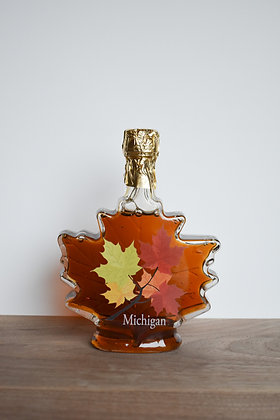 Maple Syrup Leaf With Leaves Bottle