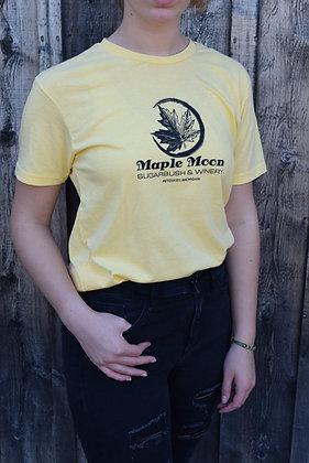 Banana Cream Maple Moon T Shirt (Black Print)