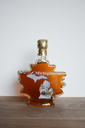 Maple Syrup Leaf With Michigan Bottle