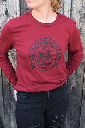 Cardinal Red Long Sleeve Hard Cider Shirt