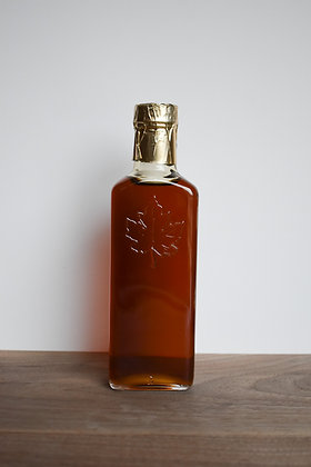 Maple Syrup Leaf Embossed Bottle