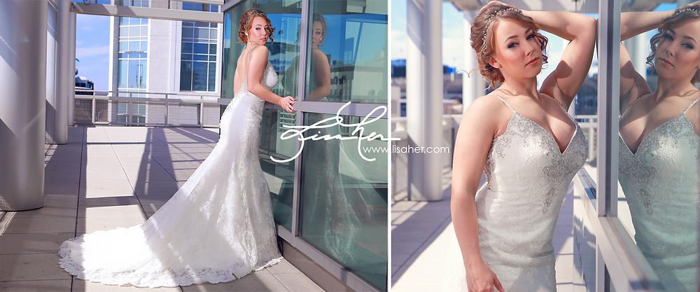 Charlotte Skyline View -Bridal Session