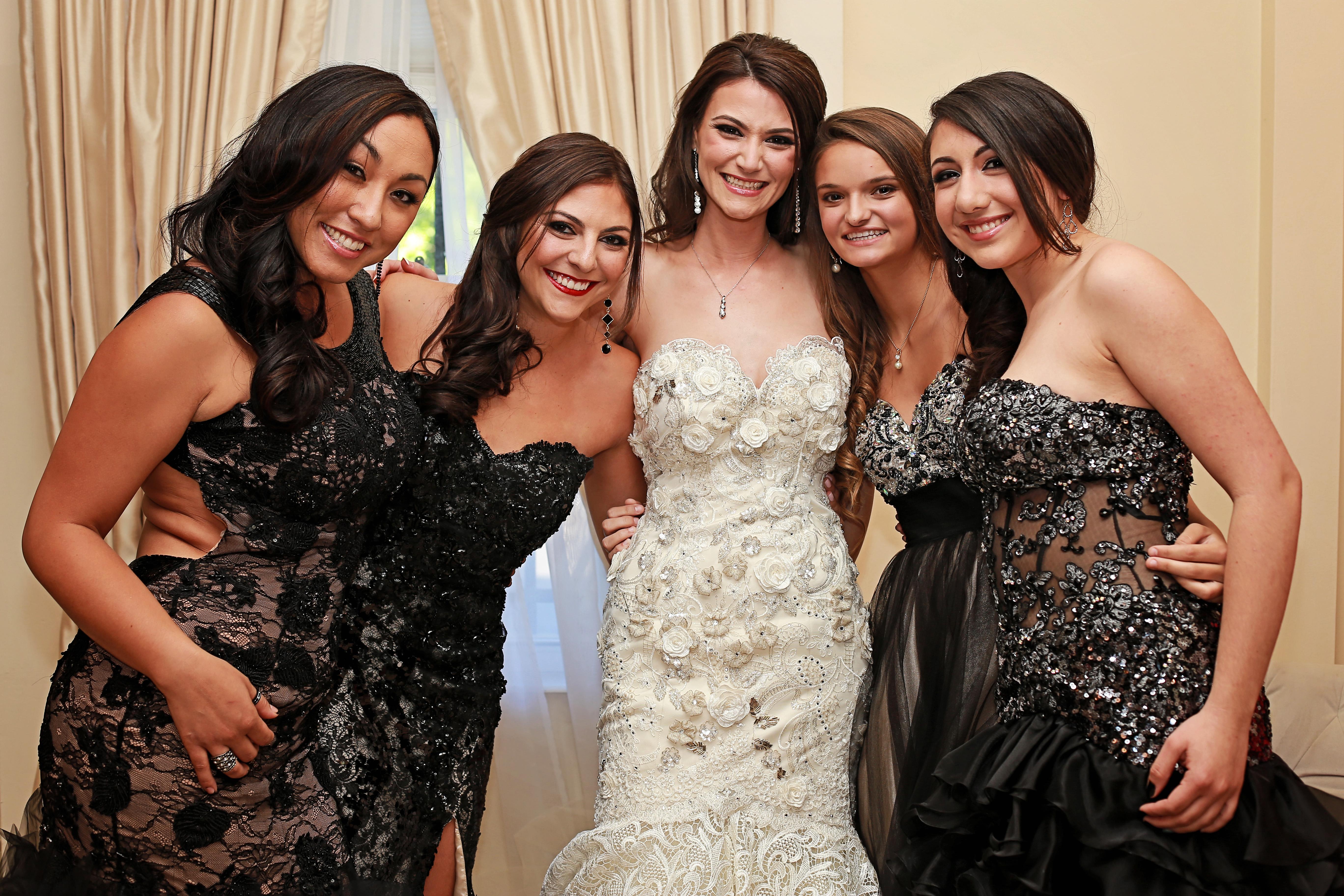 Miami FL Bride and Bridesmaids