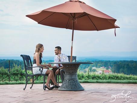 Veda said YES! | Veda + David's Romantic Engagement Session at Raffaldini Vineyards