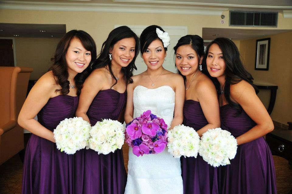 Uptown Asian Bride and Bridesmaids