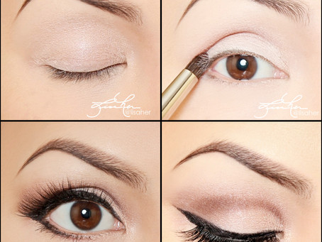Glamour Eye Makeup Tutorial - Soft Winged Liner with Lashes