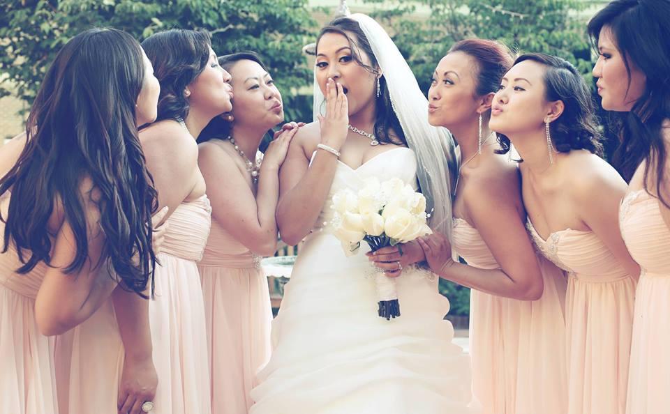 Hmong Glam Bride and Bridesmaids