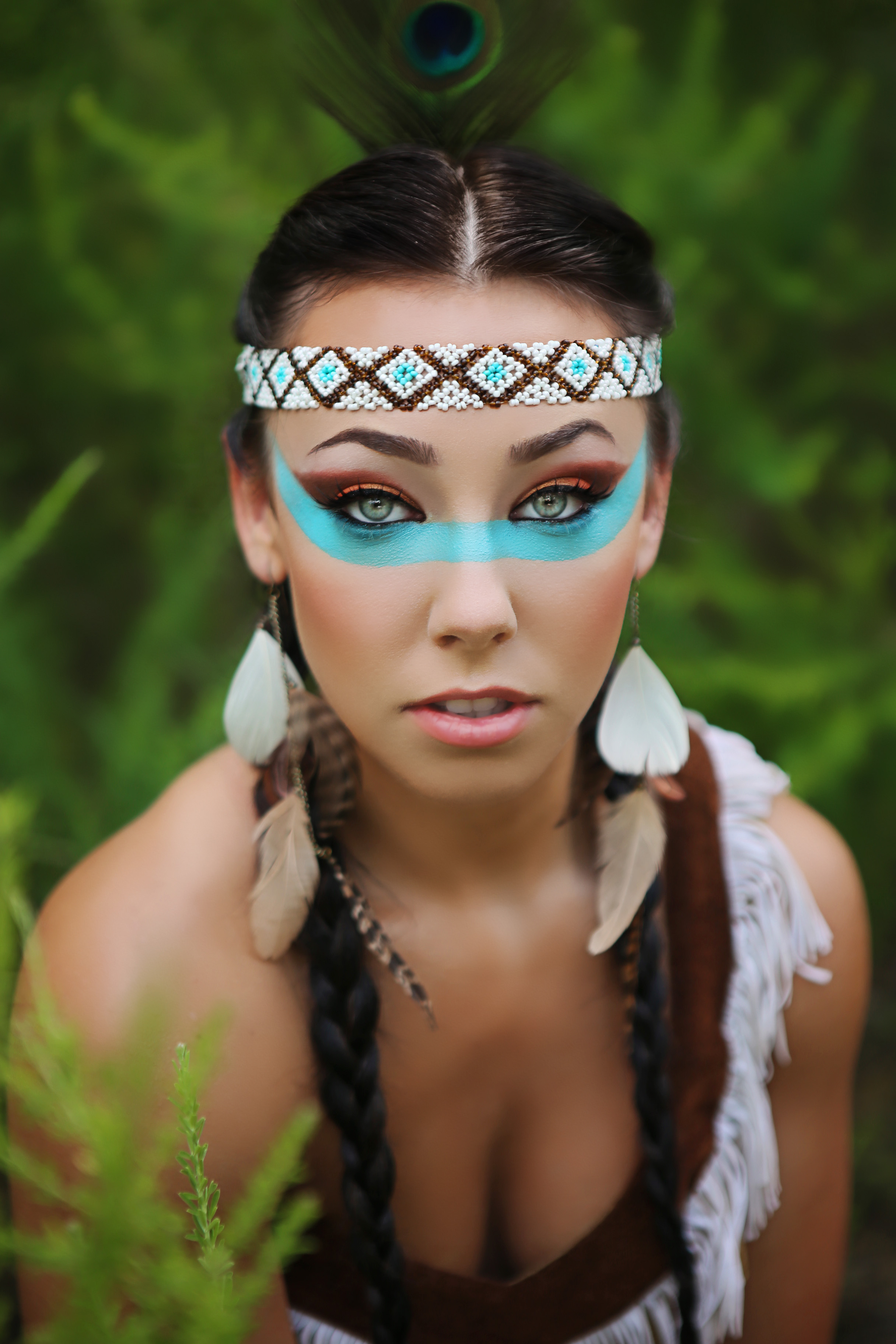 Indian Tribal Inspired Makeup