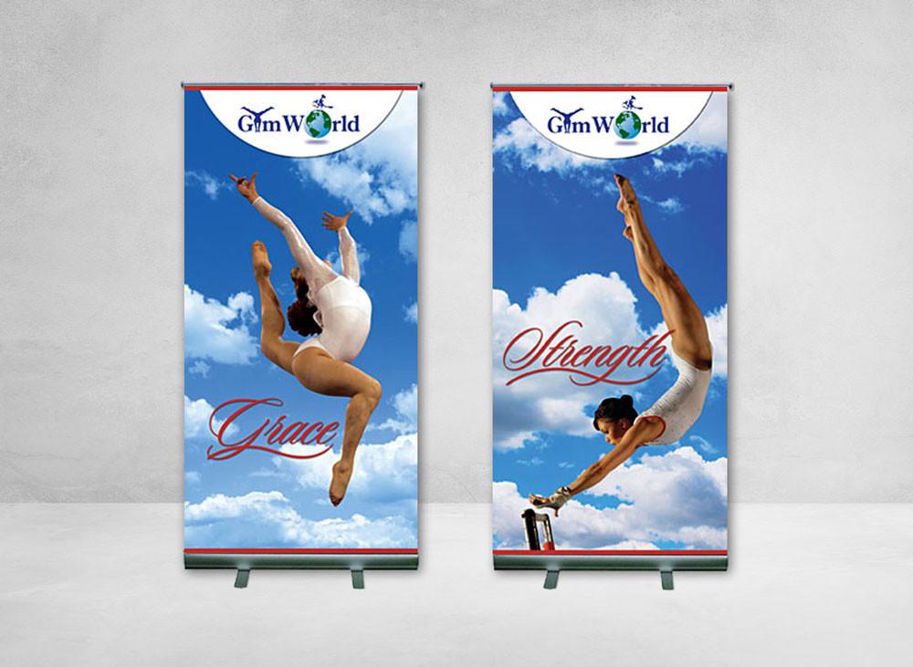 Lobby Banners: GymWorld
