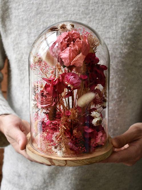 Cloche de fleurs Love
