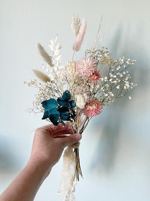 Mini Bouquet de Fleurs Séchées Deep Blue