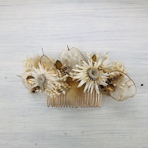 Peigne de fleurs séchées