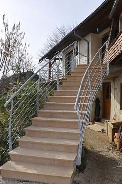 rampe d'escalier extérieur