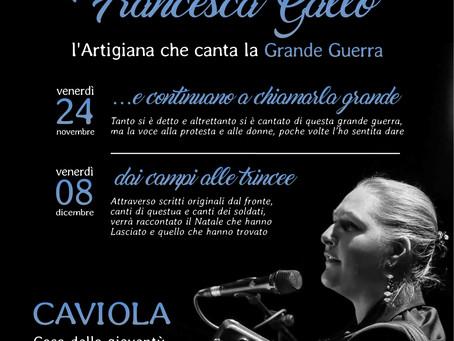 Francesca Gallo, l'Artigiana che canta la grande guerra