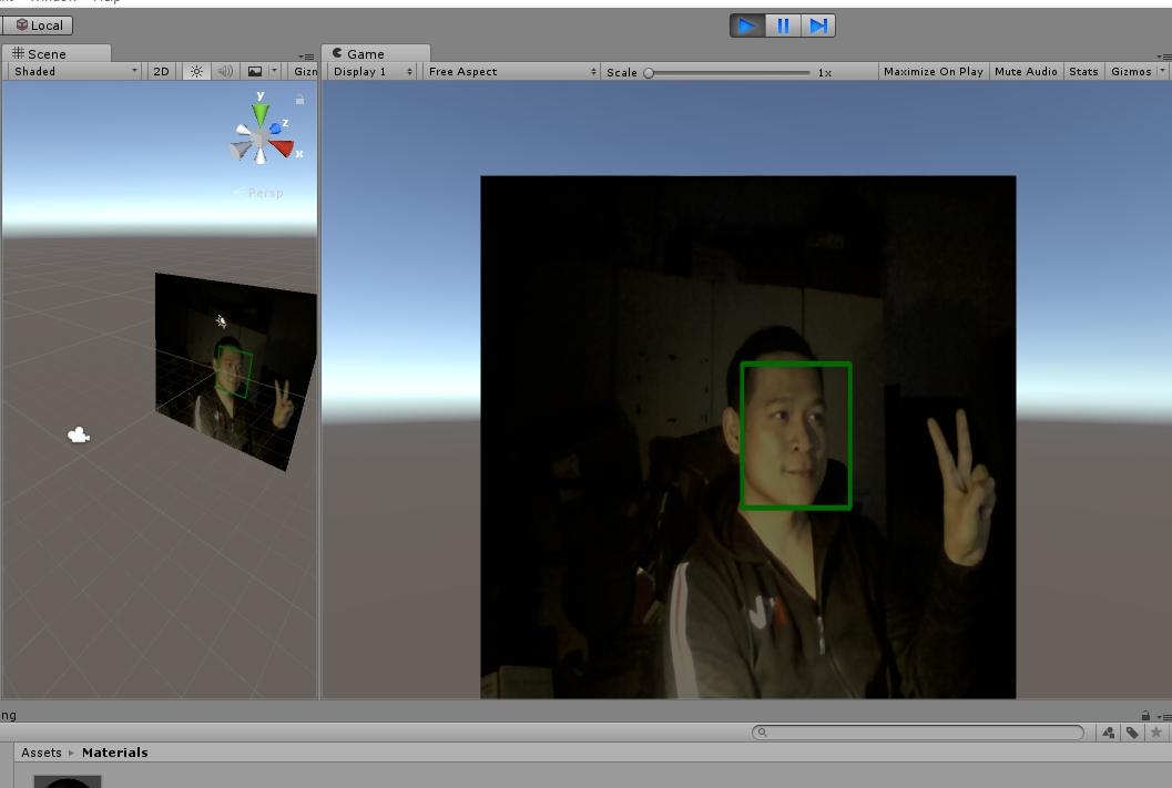 Face tracker and pedestrian detector using Emgu CV with