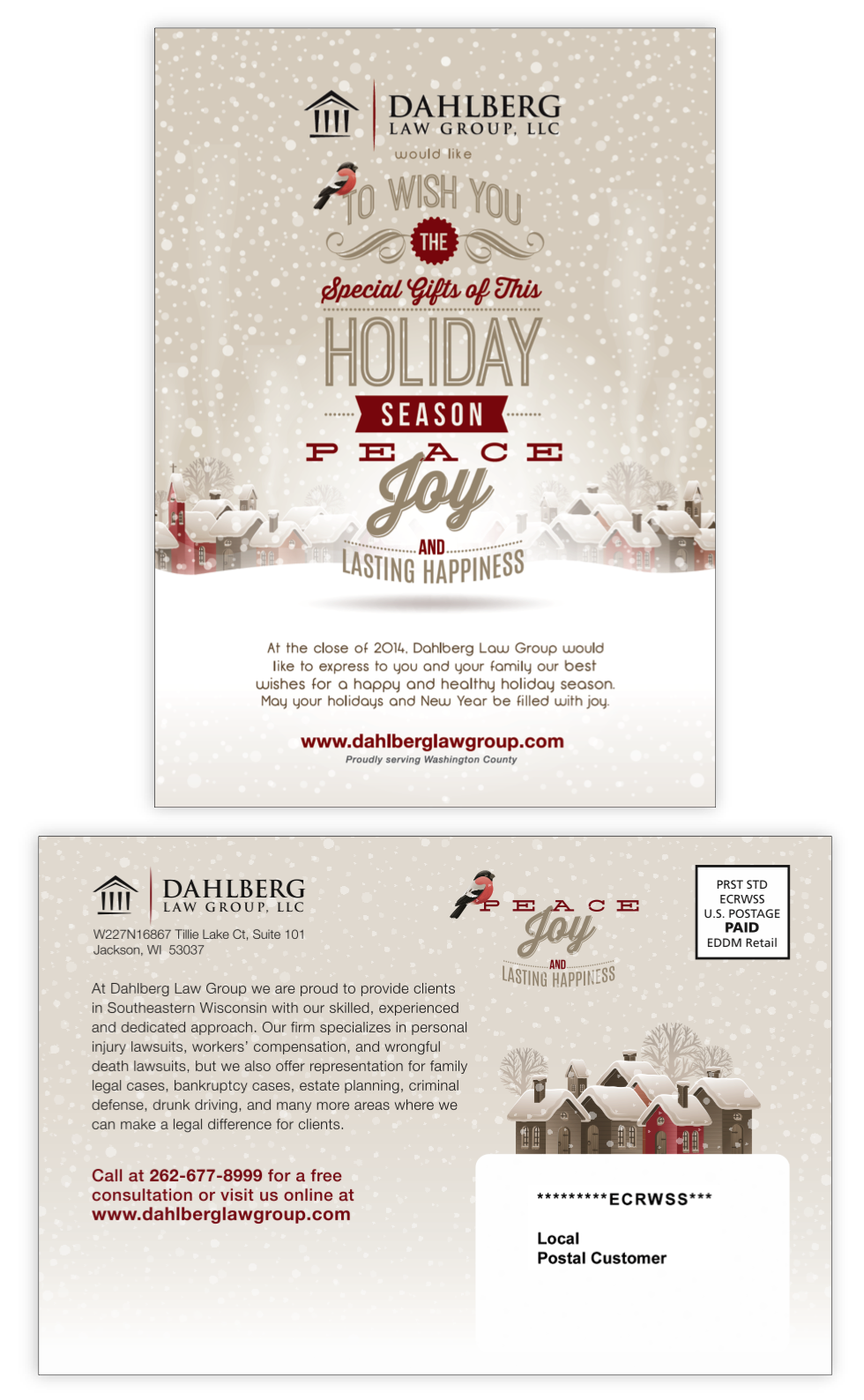 Dahlberg Law Group holiday mailer