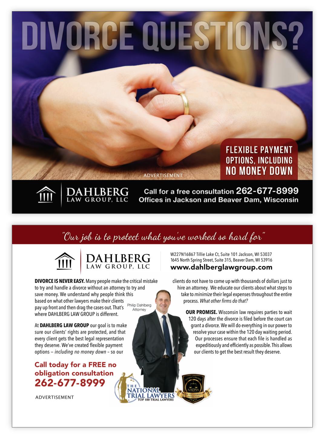 Dahlberg Law Group postcard