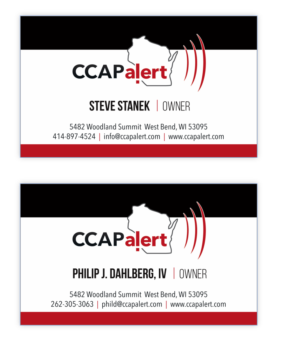 CCAP Alert business cards