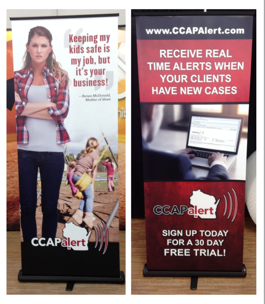 CCAP Alert trade show banners