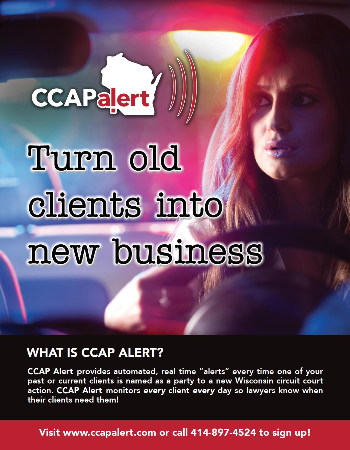 CCAP Alert trade show banner