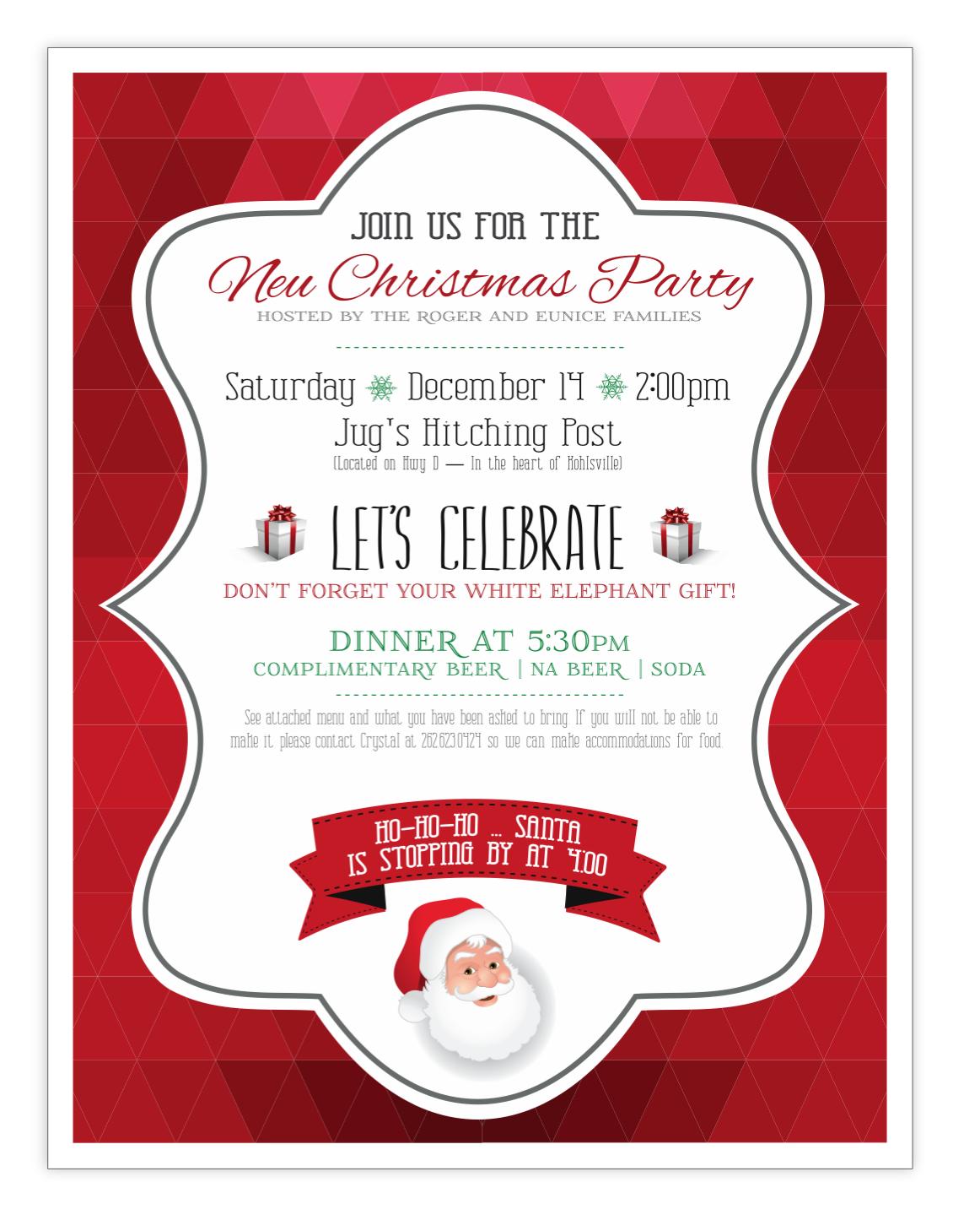 Family holiday invitation