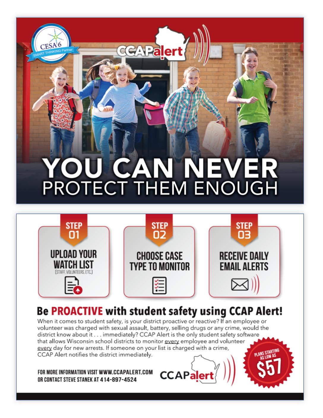CCAP Alert postcard