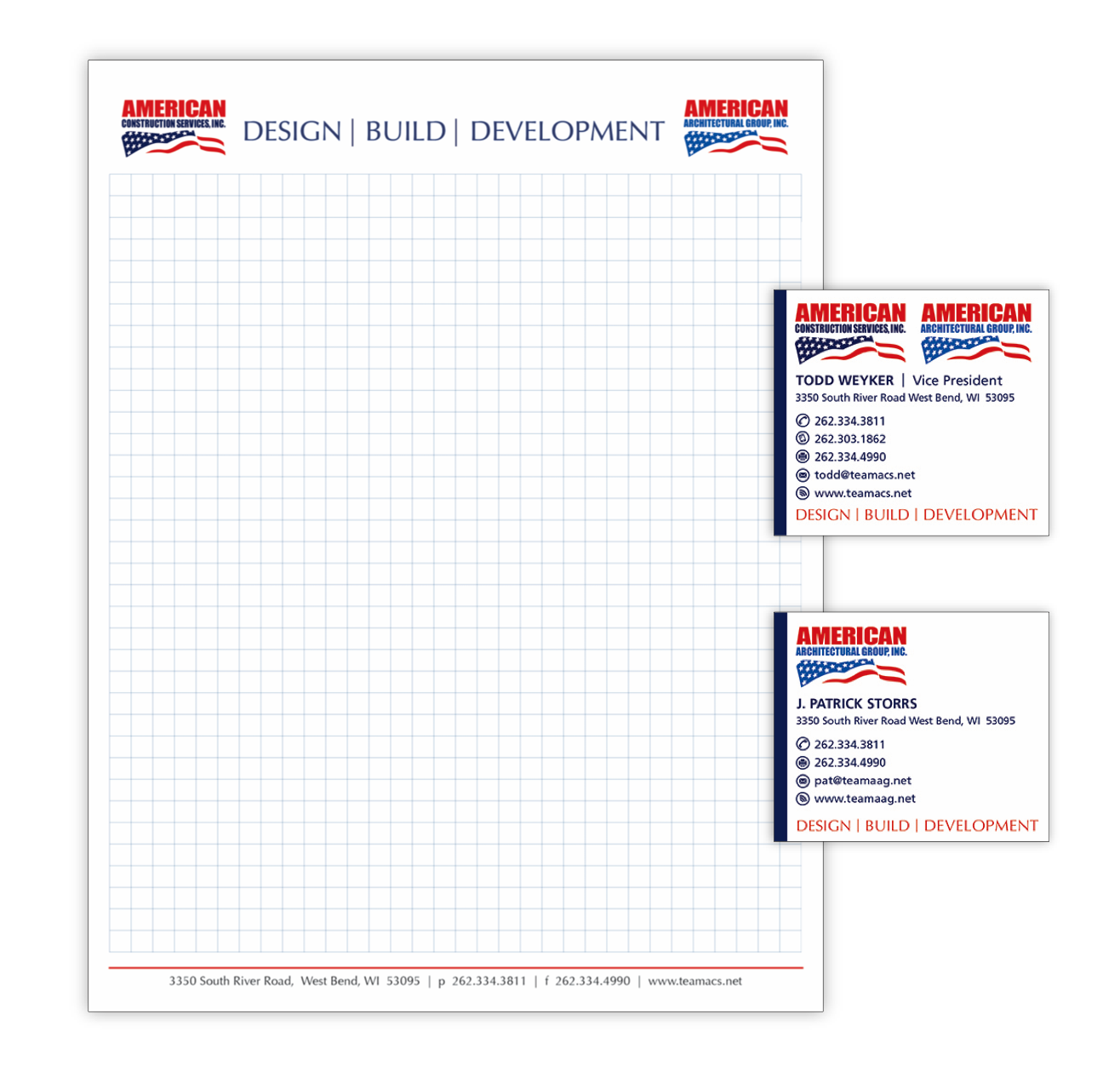 Notepad and business cards