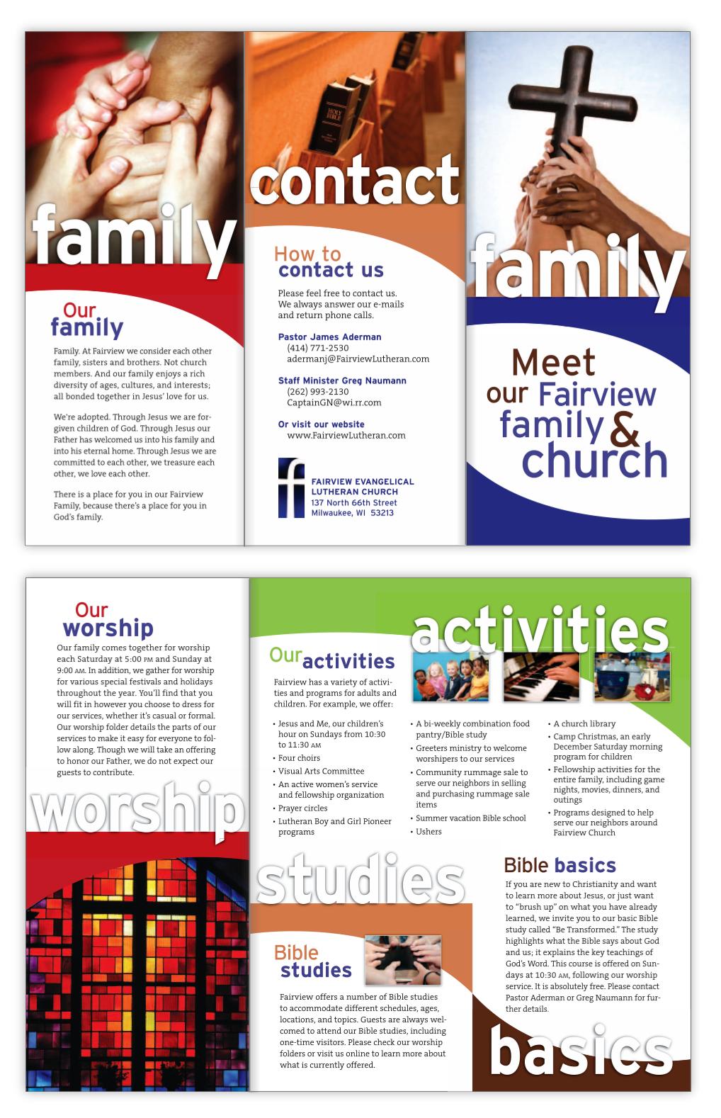 Fairview Lutheran brochure