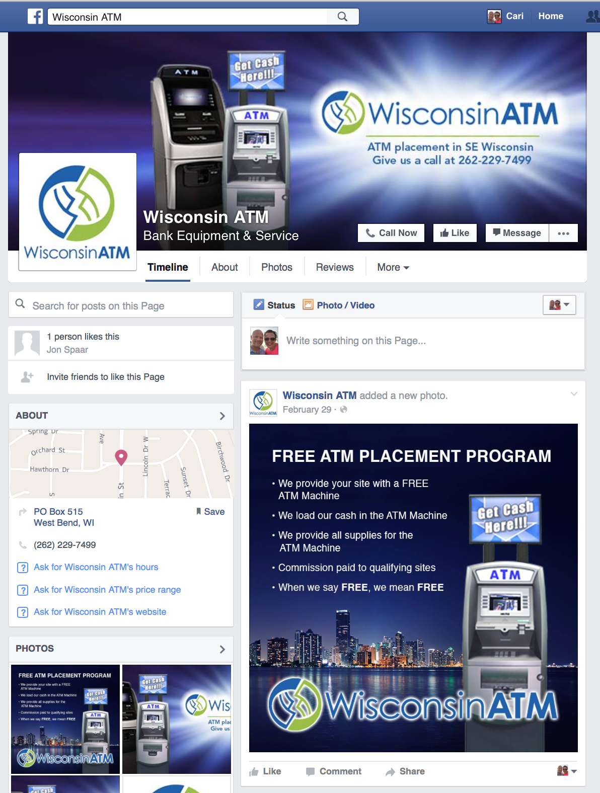 Wisconsin ATM Facebook page