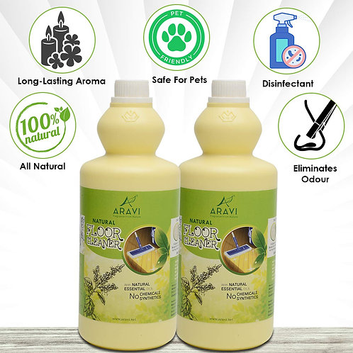 Nature Herbal Floor Cleaner - 1 Litre, Pack of 2
