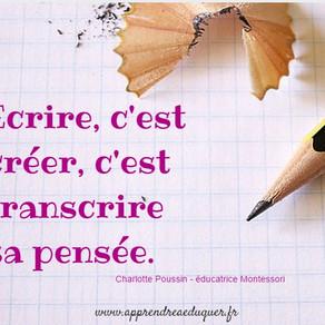 L'écriture ...