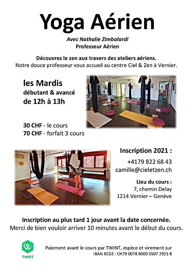 Yoga aérien Mardi 2021