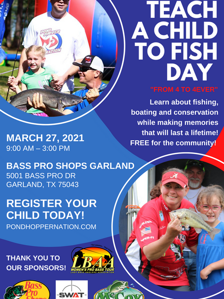 Teach A Child To Fish Day is kicking off the 2021 season on Lake Ray Hubbard in Garland, Texas