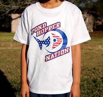 Youth Pond Hopper Nation Cotton T-shirt